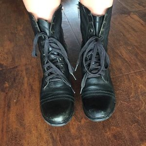 Black Steve Madden Combat Boots